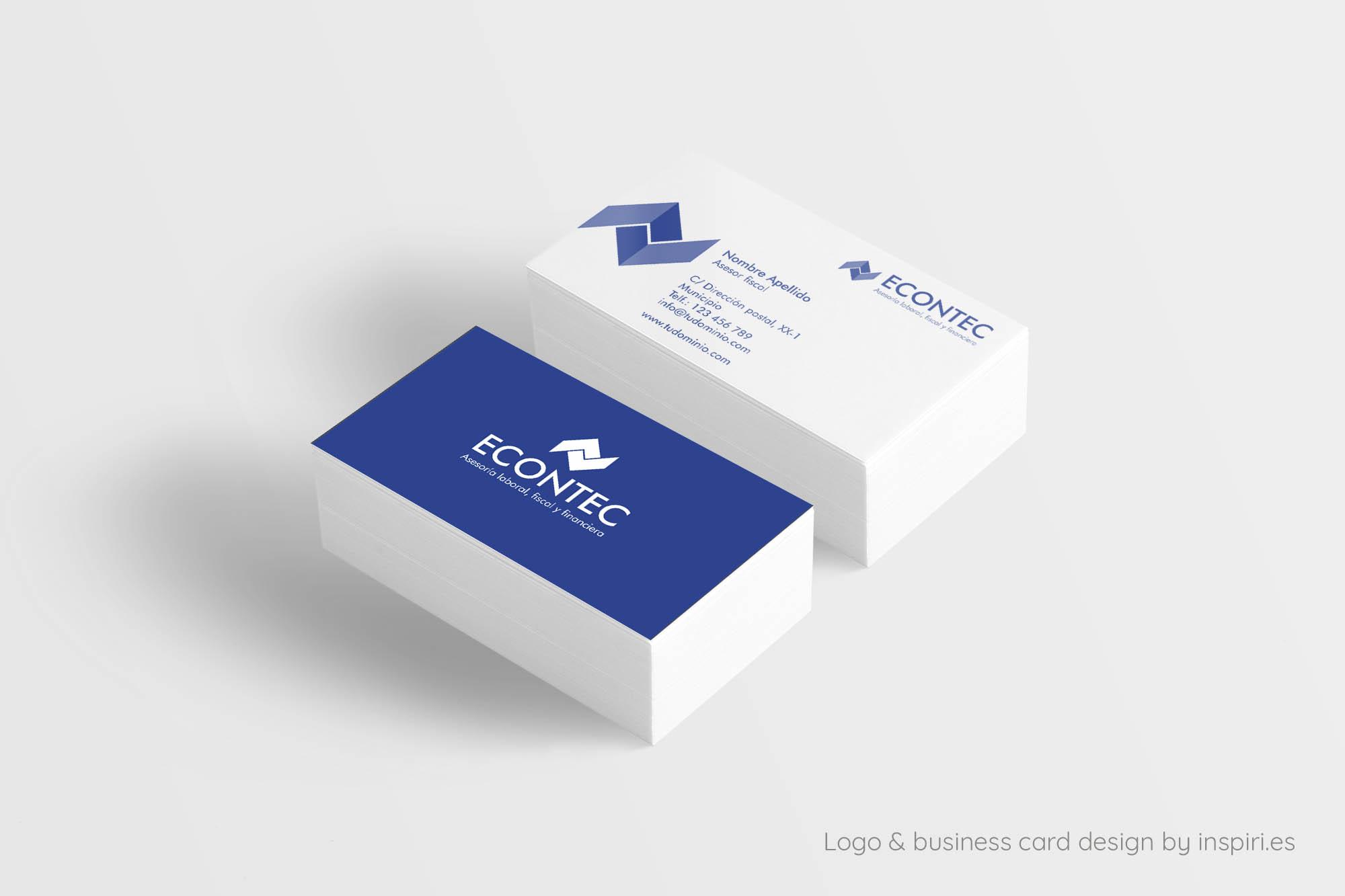 Diseño tarjeta visita econtec